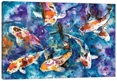 Koi Impression Canvas Art Print