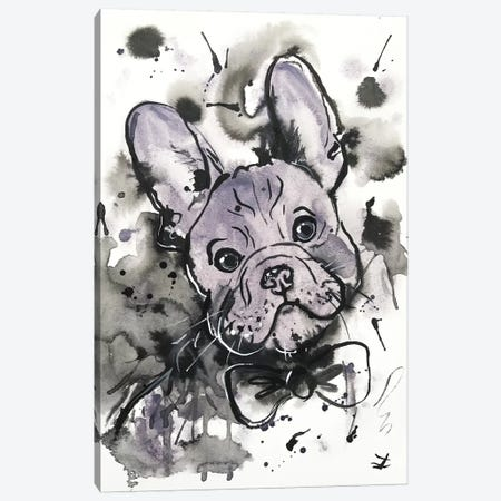 Lilac Frenchie Canvas Print #ZDZ62} by Zaira Dzhaubaeva Canvas Art Print
