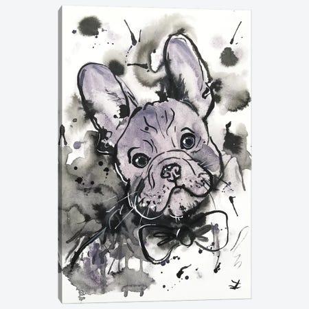 Lilac Frenchie Canvas Print #ZDZ62} by Zaira Dzhaubaeva Canvas Art Print