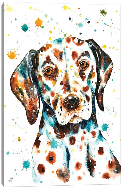 Liver-Spotted Dalmatian Canvas Art Print