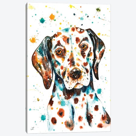 Liver-Spotted Dalmatian Canvas Print #ZDZ65} by Zaira Dzhaubaeva Canvas Wall Art