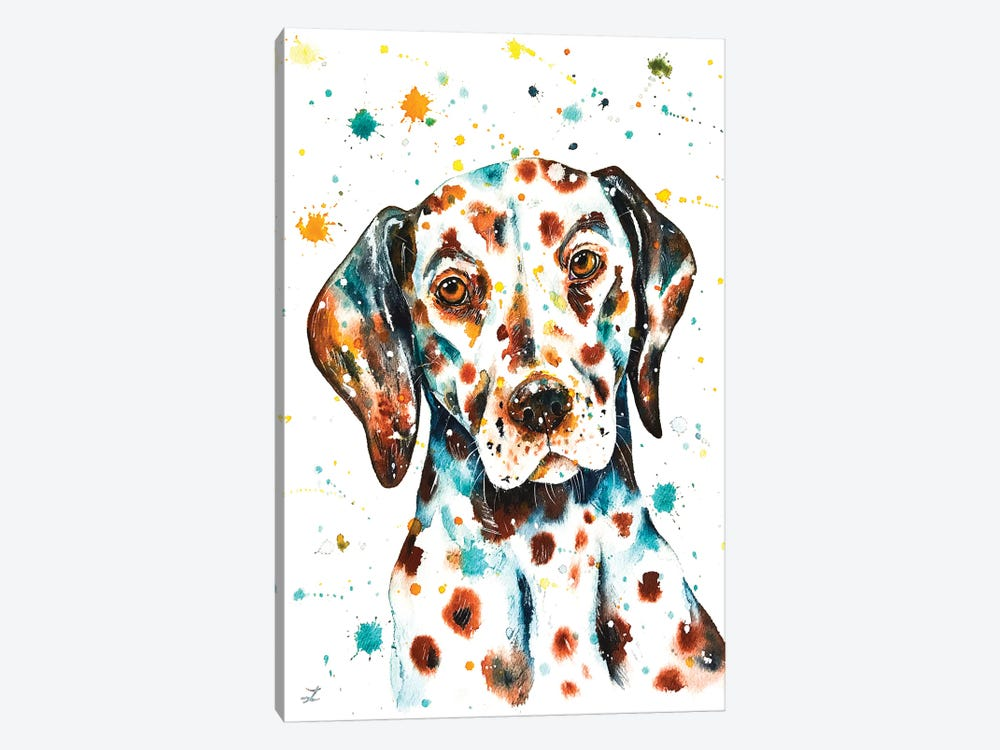 Liver-Spotted Dalmatian by Zaira Dzhaubaeva 1-piece Canvas Wall Art