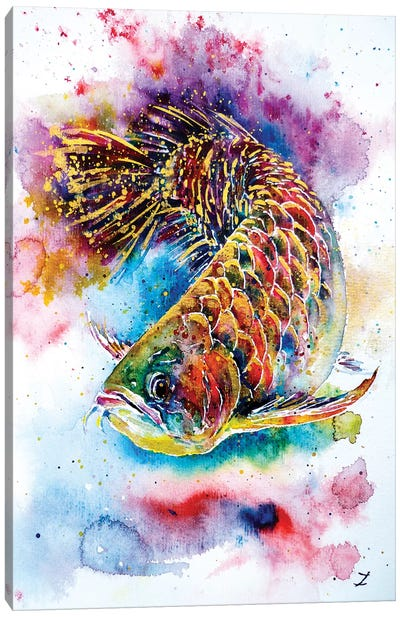 Magic Of Arowana Canvas Art Print
