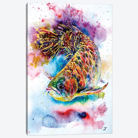 Magic Of Arowana Canvas Print #ZDZ67} by Zaira Dzhaubaeva Canvas Artwork