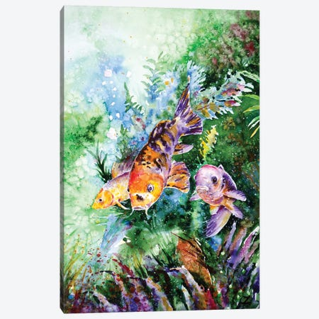 Aquarium Canvas Print #ZDZ6} by Zaira Dzhaubaeva Canvas Wall Art