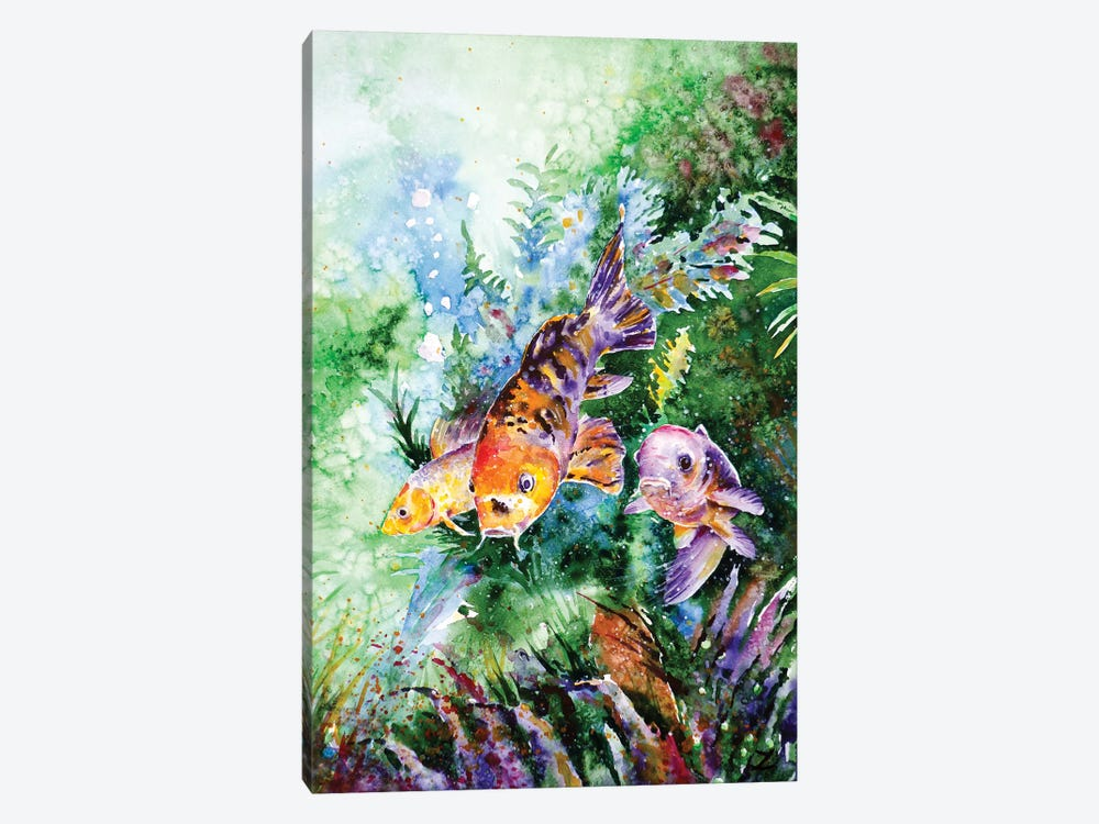 Aquarium by Zaira Dzhaubaeva 1-piece Canvas Art Print