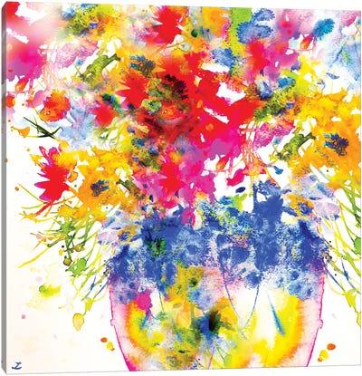 Morning Flowers Canvas Art Print