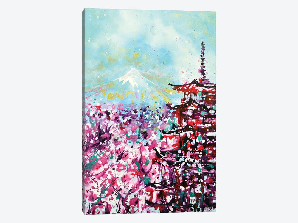 Mount Fuji And The Chureito Pagoda In Spring 1-piece Canvas Art Print