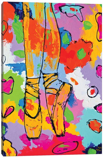 On Pointes Canvas Art Print