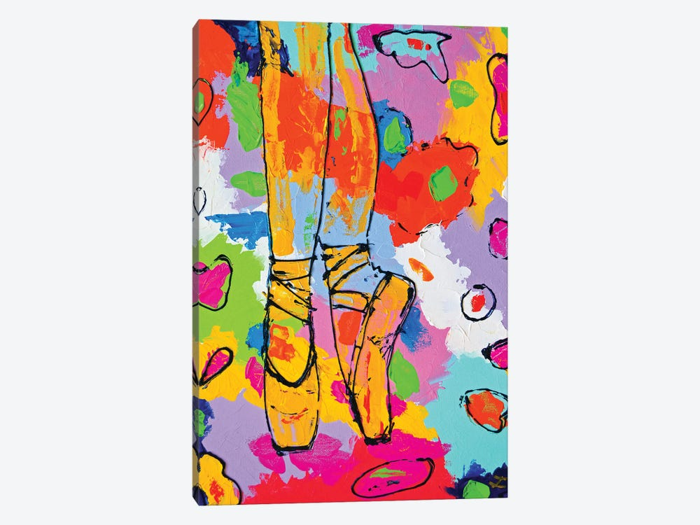 On Pointes by Zaira Dzhaubaeva 1-piece Canvas Print