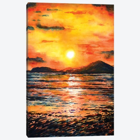 Orange Sunset Canvas Print #ZDZ79} by Zaira Dzhaubaeva Canvas Artwork