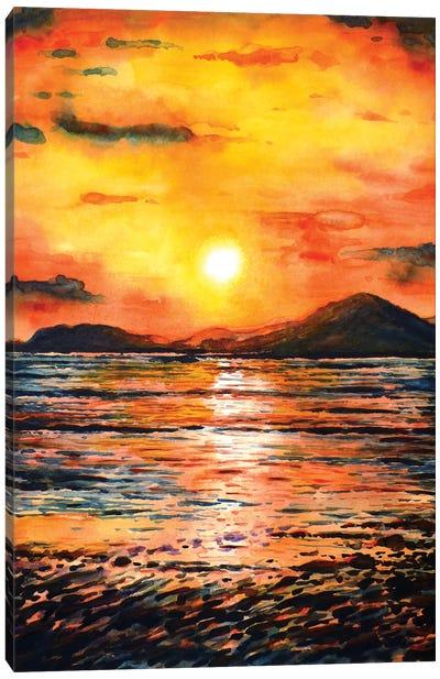 Orange Sunset Canvas Art Print