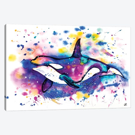 Orca Canvas Print #ZDZ80} by Zaira Dzhaubaeva Canvas Art Print
