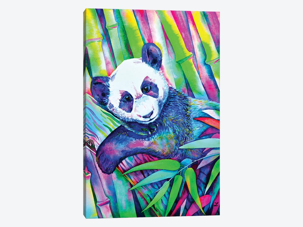 Panda Bliss by Zaira Dzhaubaeva 1-piece Art Print