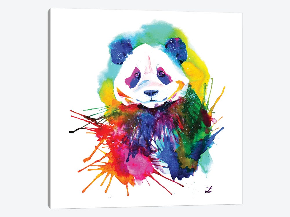 Panda Splash by Zaira Dzhaubaeva 1-piece Canvas Art Print