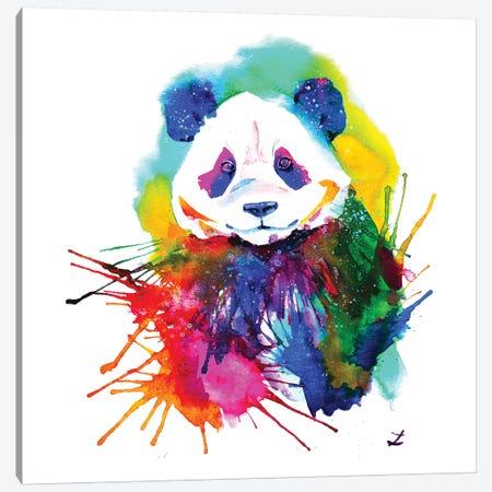 Panda Splash Canvas Print #ZDZ84} by Zaira Dzhaubaeva Canvas Artwork