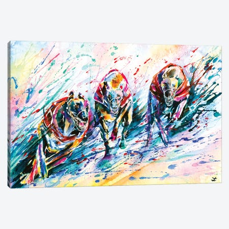 Race Canvas Print #ZDZ89} by Zaira Dzhaubaeva Canvas Art Print