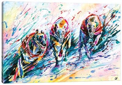 Race Canvas Art Print