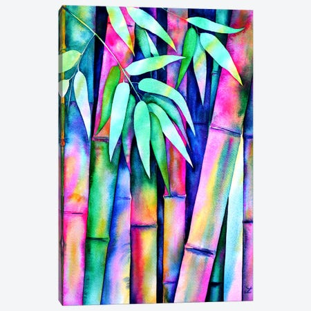 Rainbow Bamboo Canvas Print #ZDZ91} by Zaira Dzhaubaeva Canvas Wall Art