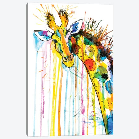 Rainbow Giraffe Canvas Print #ZDZ92} by Zaira Dzhaubaeva Canvas Artwork