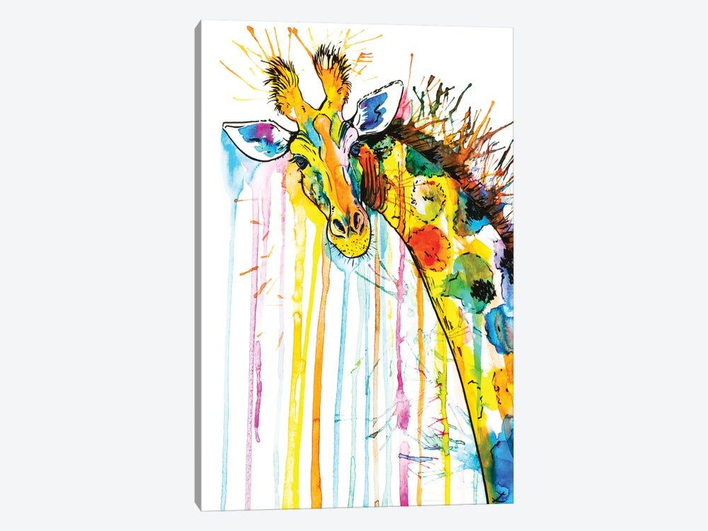 Rainbow Giraffe by Zaira Dzhaubaeva 1-piece Canvas Art