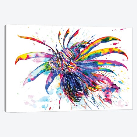 Rainbow Lionfish Canvas Print #ZDZ94} by Zaira Dzhaubaeva Canvas Print