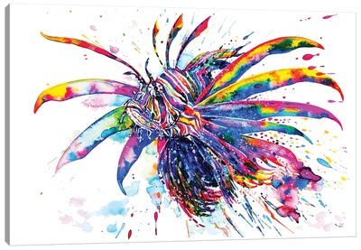 Rainbow Lionfish Canvas Art Print