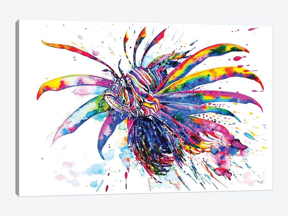Rainbow Lionfish by Zaira Dzhaubaeva 1-piece Canvas Art