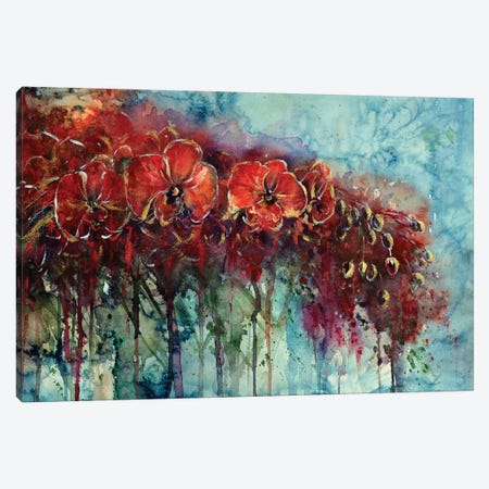 Red Orchids 3-Piece Canvas #ZDZ96} by Zaira Dzhaubaeva Art Print