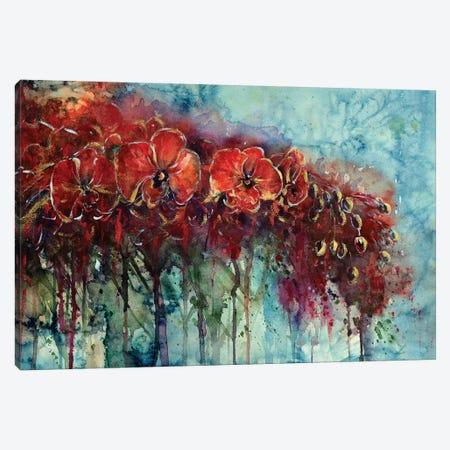 Red Orchids Canvas Print #ZDZ96} by Zaira Dzhaubaeva Art Print