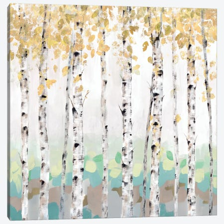 Golden Treescape 3-Piece Canvas #ZEE109} by Isabelle Z Canvas Print