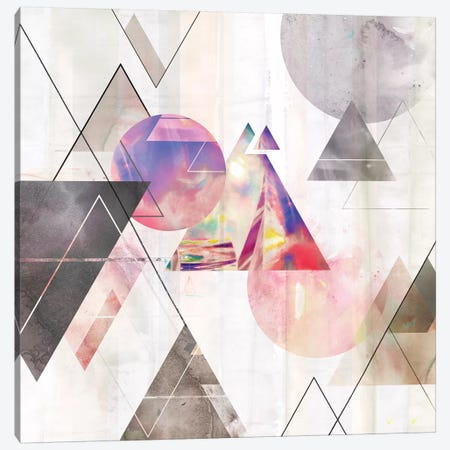 Holographic I  3-Piece Canvas #ZEE110} by Isabelle Z Canvas Art