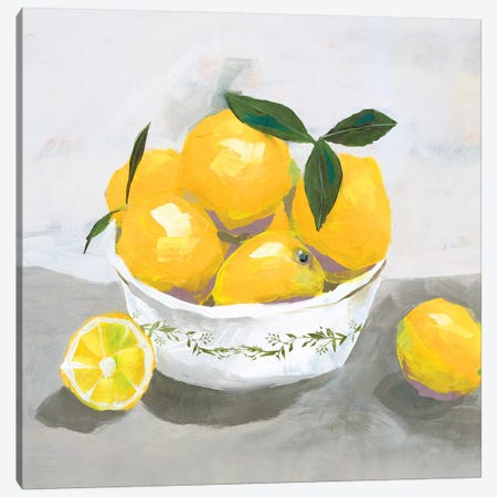 Lemons Canvas Print #ZEE114} by Isabelle Z Canvas Art Print