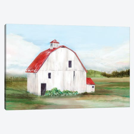Red Barn I Canvas Print #ZEE130} by Isabelle Z Canvas Artwork