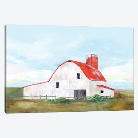 Red Barn II Canvas Print #ZEE131} by Isabelle Z Canvas Wall Art