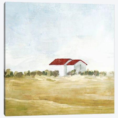 Red Farm House I  Canvas Print #ZEE132} by Isabelle Z Canvas Artwork