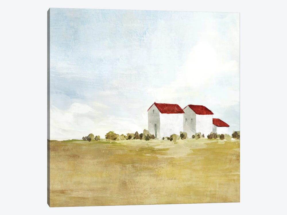Red Farm House II  by Isabelle Z 1-piece Art Print