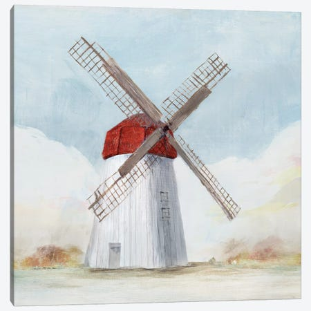 Red Windmill I  Canvas Print #ZEE134} by Isabelle Z Art Print