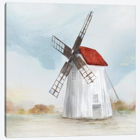 Red Windmill II  Canvas Print #ZEE135} by Isabelle Z Canvas Art Print