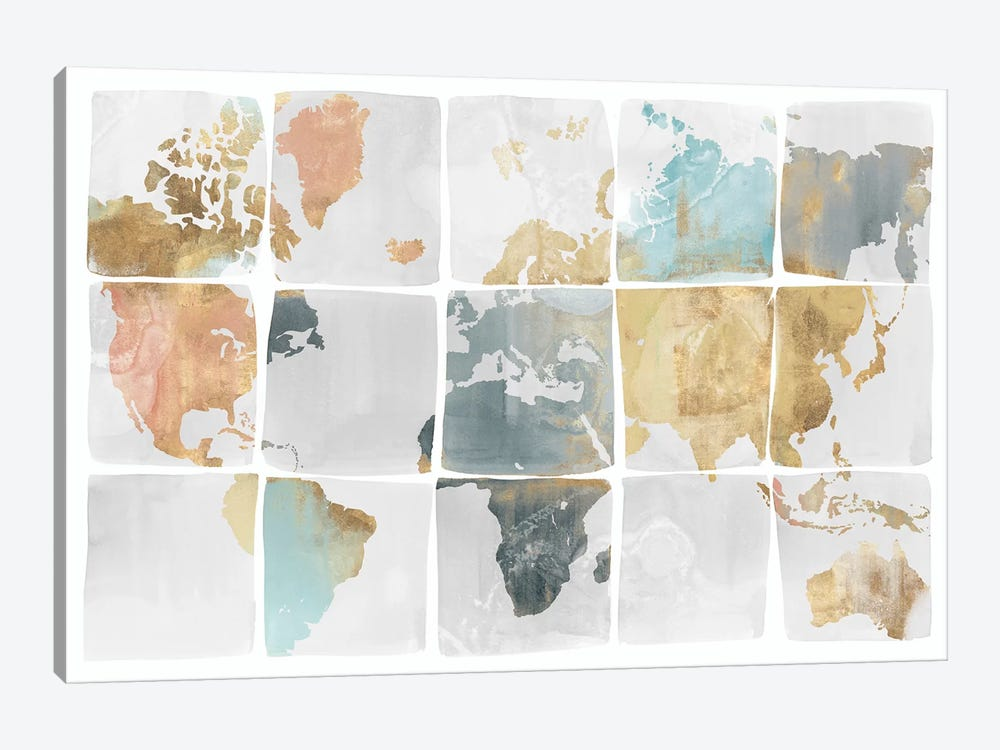Tiled Map  by Isabelle Z 1-piece Canvas Artwork