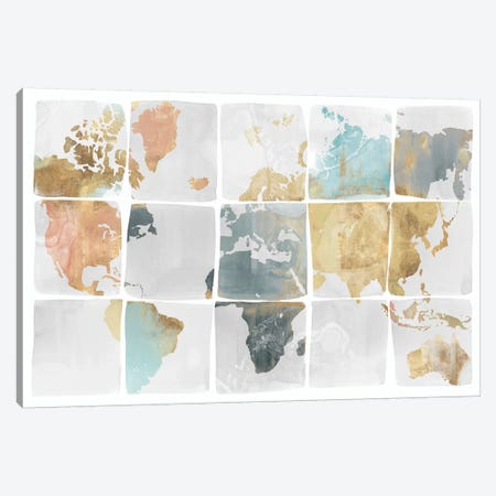 Tiled Map  Canvas Print #ZEE149} by Isabelle Z Art Print