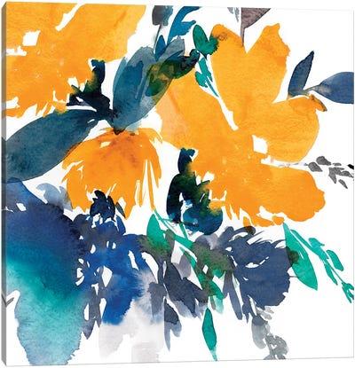Indigo Flower I Canvas Art Print