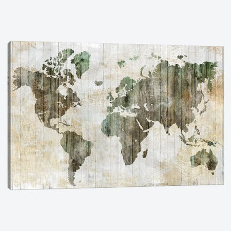 World Map I  Canvas Print #ZEE152} by Isabelle Z Canvas Wall Art