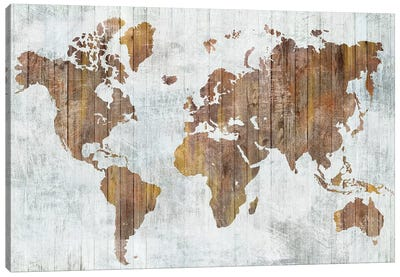 World Map II  Canvas Art Print