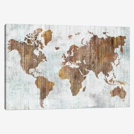 World Map II  Canvas Print #ZEE153} by Isabelle Z Canvas Art