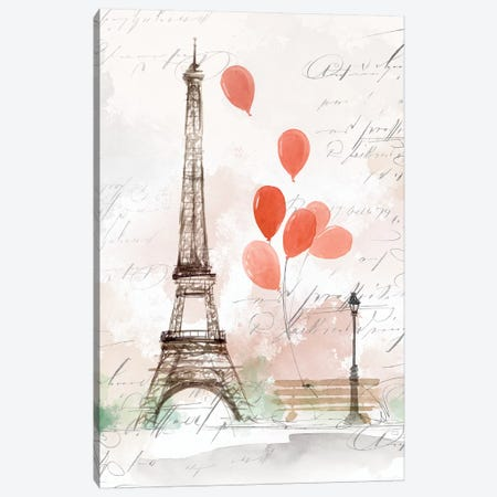 Balloons in Paris  Canvas Print #ZEE155} by Isabelle Z Canvas Print