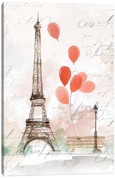 Balloons in Paris  Canvas Art Print