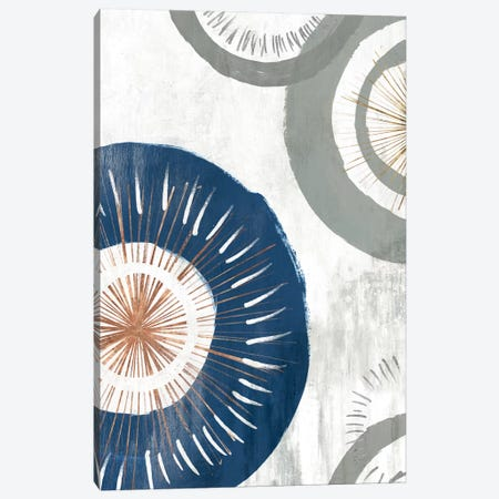 Blue Spheres I  Canvas Print #ZEE157} by Isabelle Z Canvas Print