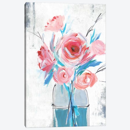Blue Vase I  Canvas Print #ZEE159} by Isabelle Z Canvas Artwork
