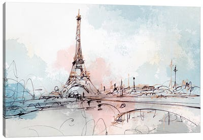 Blushing Paris  Canvas Art Print